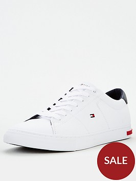 tommy-hilfiger-essential-leather-detail-vulc-trainers-whitenbsp