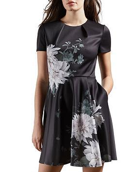 ted-baker-clove-printed-skater-dress-black