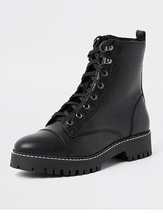 river-island-leather-lace-up-biker-boot-black