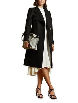 ted-baker-midi-wool-wrap-coat-with-shoulder-panels-black