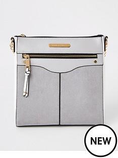 river-island-zip-front-structured-messenger-bag-grey
