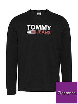 tommy-jeans-tjmnbsplong-sleeve-corp-logo-t-shirt-blacknbsp