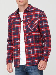 tommy-jeans-tjm-flannel-plaid-shirt-multi