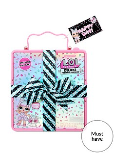 lol-surprise-deluxe-present-surprise-with-limited-edition-miss-partay-doll-and-pet-pink