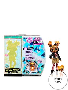 lol-surprise-omg-winter-chill-missy-meow-fashion-doll-amp-baby-cat-doll-with-25-surprises