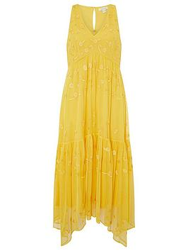 Monsoon Monsoon Monsoon Carmela Sustainable Emb Midi Dress Picture