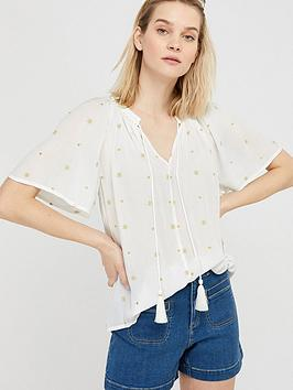 Monsoon Monsoon Monsoon Alder Embroidery Ecovero Top Picture