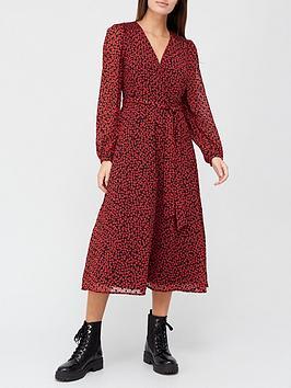 v-by-very-flocked-spot-wrap-midi-dress-print