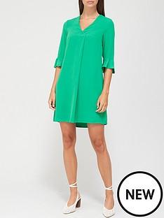 v-by-very-notch-neck-dress-green