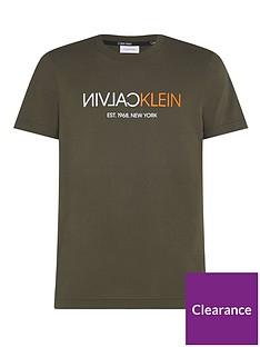 calvin-klein-text-reverse-front-logo-t-shirt-khaki