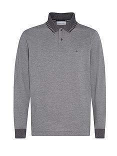 calvin-klein-recyclednbsplong-sleeve-polo-shirt-grey