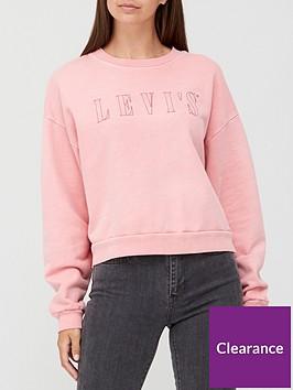 levis-graphic-diana-crew-neck-sweat-top-pink