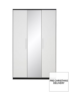 messina-gloss-4-door-mirrored-wardrobe-with-3-internal-drawers-blackwhite