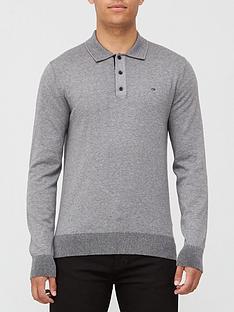 calvin-klein-cotton-silk-long-sleeve-polo-shirt-grey