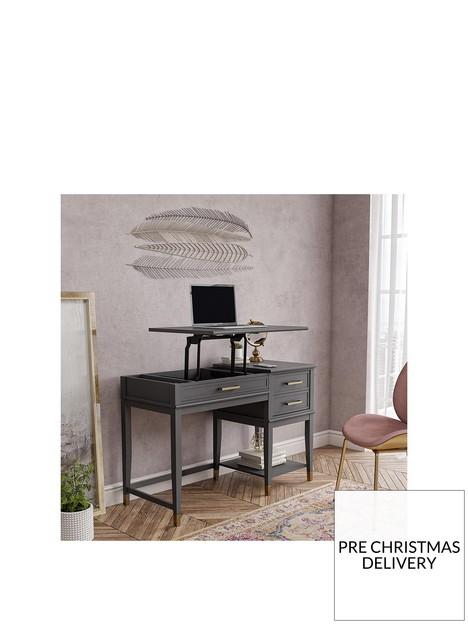 cosmoliving-by-cosmopolitan-westerleigh-lift-desk-graphite-grey