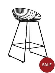 cosmoliving-by-cosmopolitan-ellis-wire-bar-stool--nbspblack