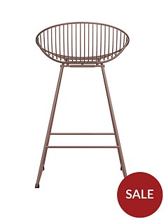 cosmoliving-by-cosmopolitan-ellis-wire-bar-stool--nbspblush-pink