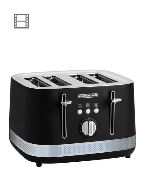 morphy-richards-illumination-4-slice-toaster-blackstainless-steel
