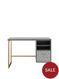 cosmoliving-by-cosmopolitan-scarlett-single-pedestal-desk-graphite-grey