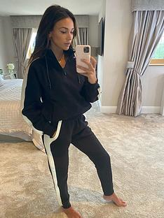 michelle-keegan-colour-block-jogger-blackcream