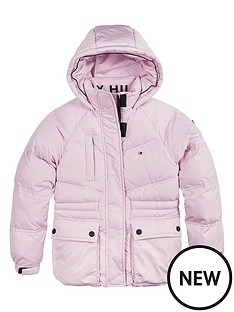 tommy-hilfiger-girls-waisted-sporty-padded-coat-pink