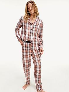 tommy-hilfiger-check-woven-pj-set-pink