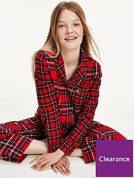 tommy-hilfiger-check-flannel-pj-set-red