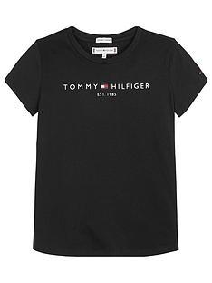 tommy-hilfiger-girls-short-sleeve-essential-t-shirt-black