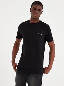 nicce-chest-logo-t-shirt-black