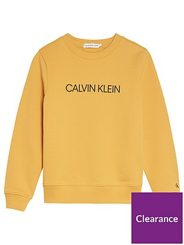 calvin-klein-jeans-kids-logo-crew-sweat-yellow