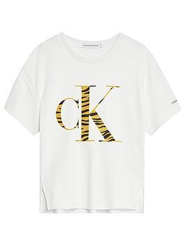 calvin-klein-jeans-girls-animal-ck-flock-t-shirt-white