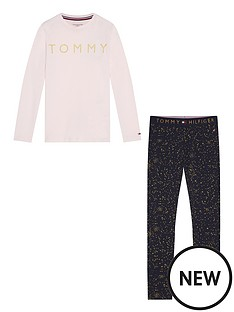 tommy-hilfiger-girls-long-sleeve-logo-pyjama-pale-pink