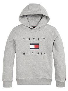 tommy-hilfiger-boys-logo-hoodie-grey-marl