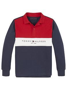 tommy-hilfiger-boys-long-sleeve-colourblock-polo-navy