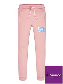 calvin-klein-jeans-girlsnbspmonogram-badge-joggers-pink