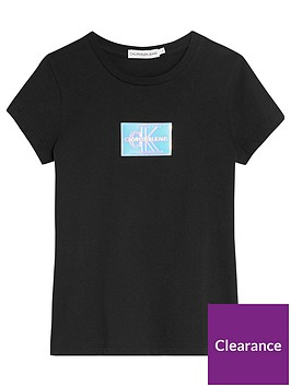 calvin-klein-jeans-girls-monogram-badge-slim-t-shirt-black