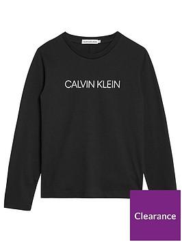 calvin-klein-jeans-boys-long-sleeve-logo-t-shirt-black