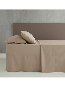 catherine-lansfield-easy-ironnbsppercale-fitted-sheet-ndash-natural