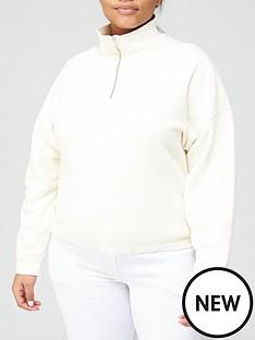 levis-plus-pom-quarter-zip-sweatshirt-beige