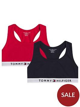 tommy-hilfiger-girls-2-pack-bralette-red-navy