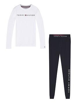 tommy-hilfiger-boys-long-sleeve-logo-pyjama-white