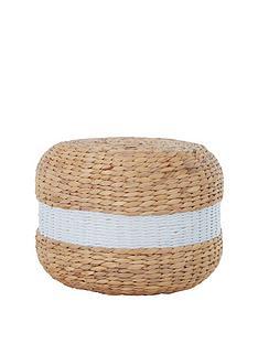 premier-housewares-ashby-seagrass-pouffe-naturalwhite