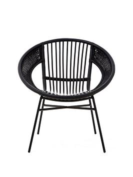 premier-housewares-lagom-black-rattan-chair