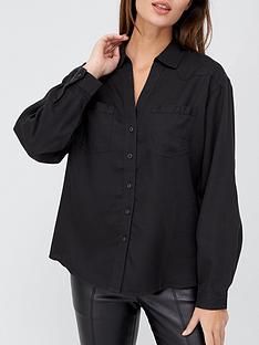 v-by-very-valuenbspsoft-touch-casual-shirt-charcoal