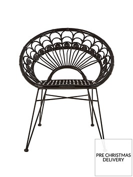 premier-housewares-manado-black-rattan-chair
