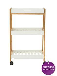 premier-housewares-nostra-3-tier-shelf-unit-with-wheels
