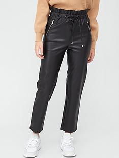 v-by-very-elasticated-waist-faux-leather-trouser-with-zips-black