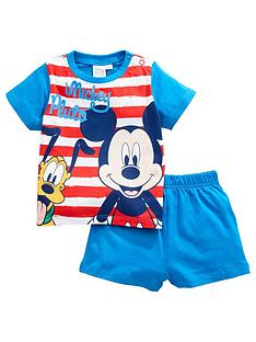 mickey-mouse-baby-boy-mickey-mouse-and-pluto-stripe-shortie-pjs-blue