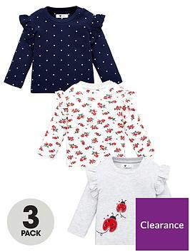 v-by-very-baby-girls-3-pack-ladybird-ruffle-sleeve-tops-multi