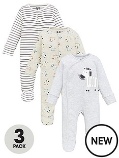 v-by-very-baby-unisex-3-pack-sleepsuits-multi